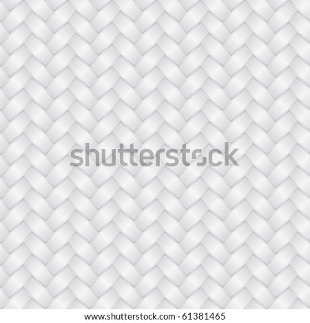 White wicker background (seamless pattern) - stock vector