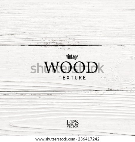 white wood texture, vector trace - stock vector