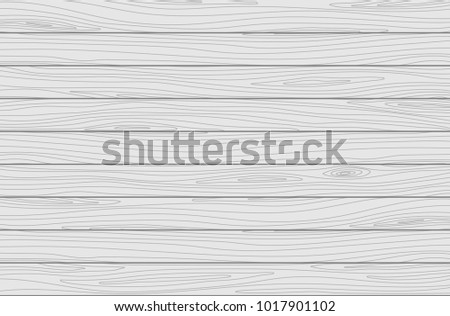 White wooden planks background. Vector wood texture