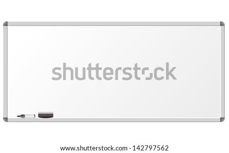 Whiteboard isolated Vector