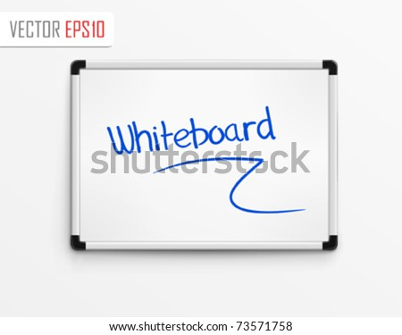 Whiteboard. Vector Illustration - stock vector