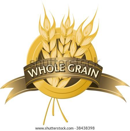 Whole Grain Seal - stock vector