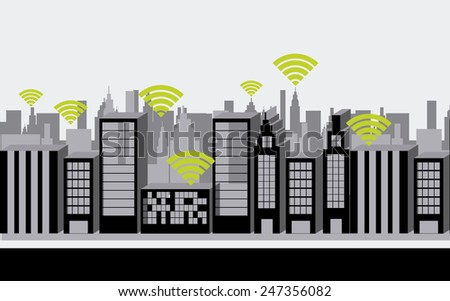 wi-fi connection design, vector illustration eps10 graphic - stock vector