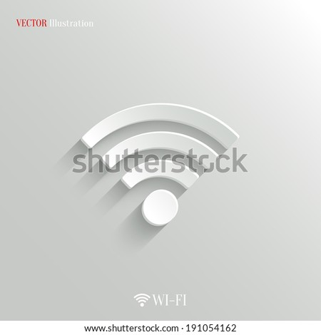 Wi-fi icon - vector web illustration, easy paste to any background - stock vector