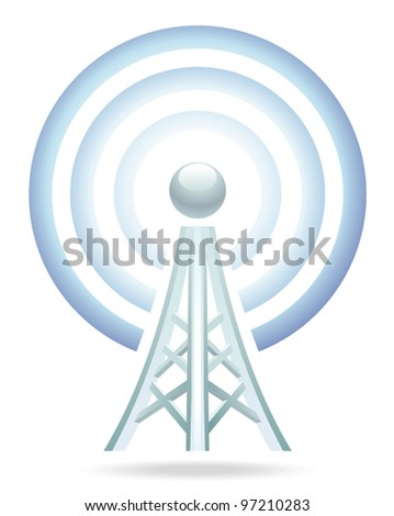wi-fi tower icon - stock vector