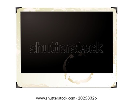 Wide screen grunge photograph with brown grunge effect - stock vector
