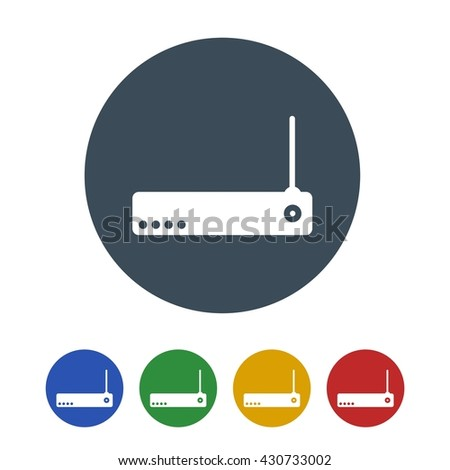 wife router Icon Isolated on White Background.vector illustration icon - stock vector