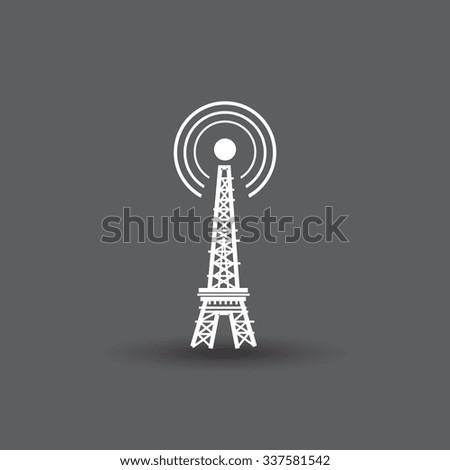 wifi and radio icon, vector illustration. - stock vector