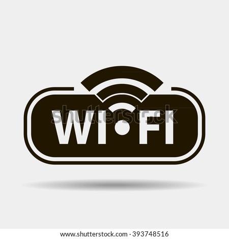 Wifi black icon concept logo or icon - stock vector
