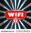 WiFi glossy vector icon - stock
