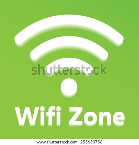 wifi icon - stock vector