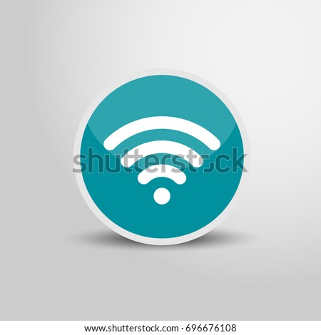 wifi icon circle wifi sign 3 d stock vector 696676108 shutterstock