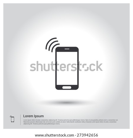Wifi Icon, pictogram icon on gray background. Vector illustration for web site, mobile application. Simple flat metro design style. Outline Icon. Flat design style - stock vector