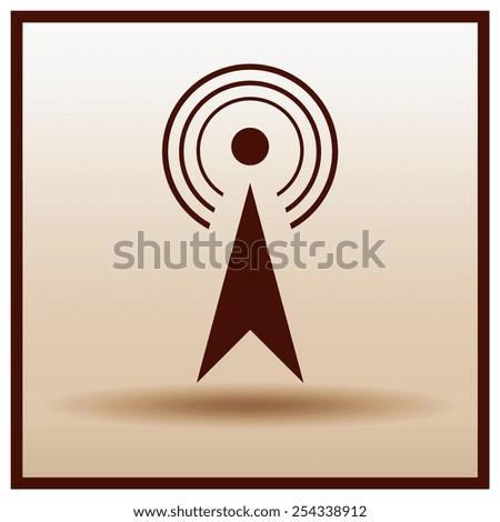 wifi icon, vector illustration. Flat design style.. - stock vector