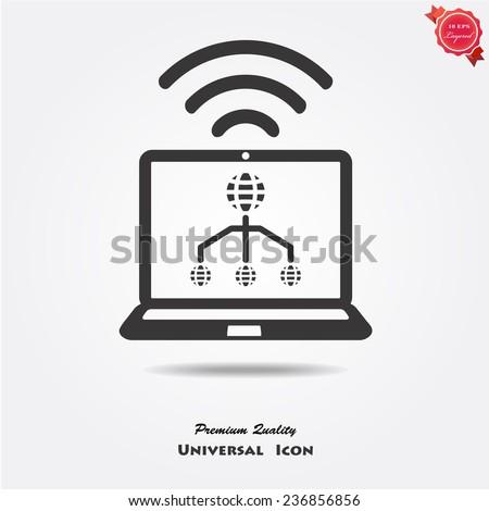 wifi icons - stock vector