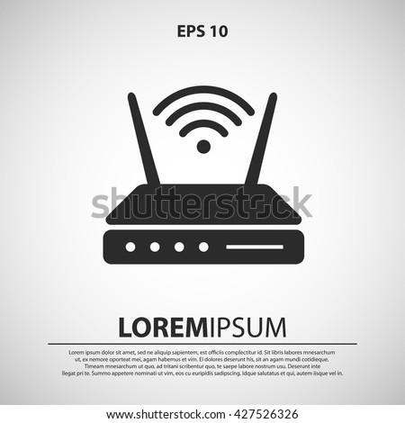 wifi modem icon. wifi modem vector illustration - stock vector