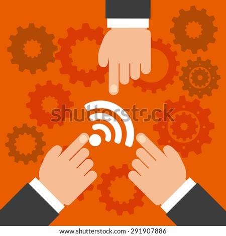 wifi service design, vector illustration eps10 graphic  - stock vector