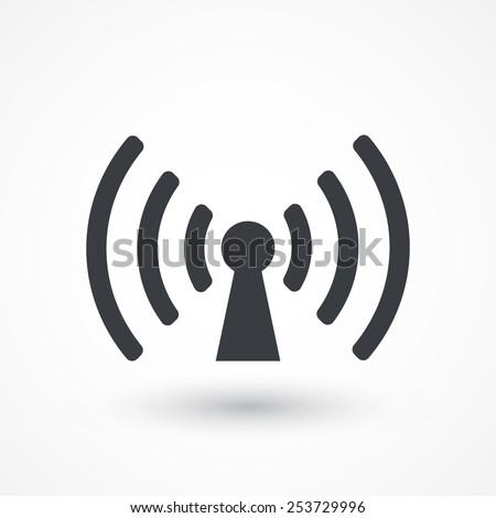 Wifi sign. Wi-fi symbol. Wireless Network icon. Wifi zone. Signal - stock vector