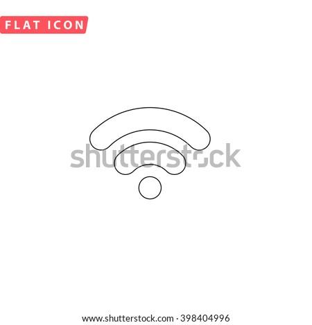 Wifi signal Icon Vector.  - stock vector