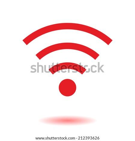 Wifi Symbol. Vector wireless network icon. Flat design - stock vector