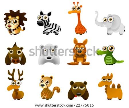 wild animal vector - cartoon series 4 - stock vector