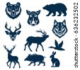 wild animals and birds for...
