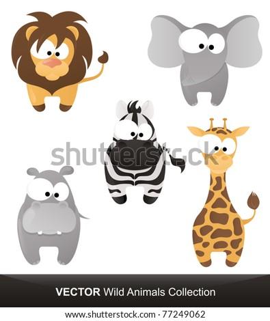 Wild Animals Vector Collection - stock vector