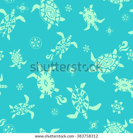wild beach. seamless pattern - stock vector
