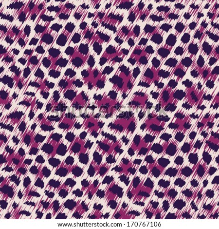 Wild cat fur print template. Seamless pattern. Vector.