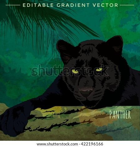 Wild Cats. Panther - stock vector