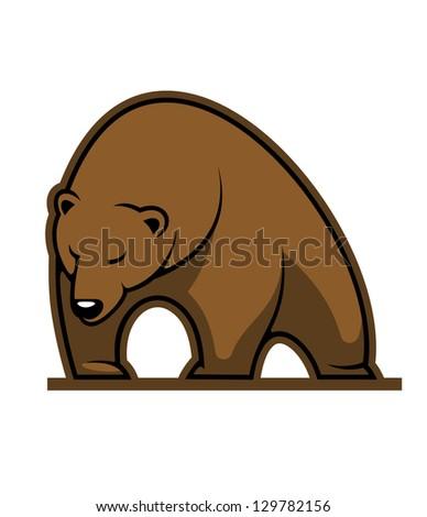 Wild kodiak bear. Jpeg version also available in gallery - stock vector