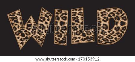 Wild leopard print - stock vector