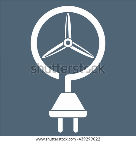 Wind energy concept, vector icon - stock vector
