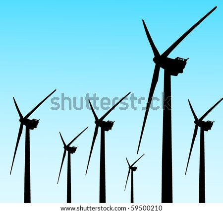 wind mill 4 - stock vector