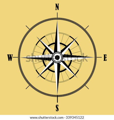 Wind rose compass . - stock vector