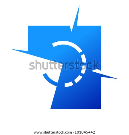 Wind rose sign Branding Identity Corporate logo design template Isolated on a white background - stock vector