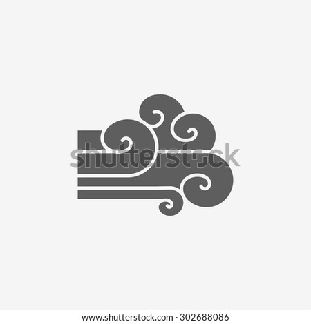 Wind sign icon - stock vector