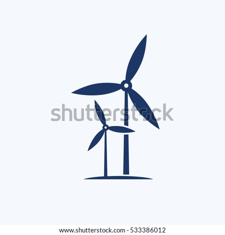Wind turbine icon design,clean vector