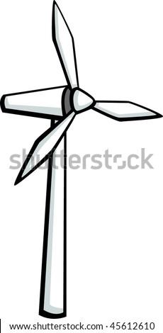 wind turbine sign stock vector 126822605