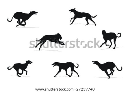 windhound running silhouettes