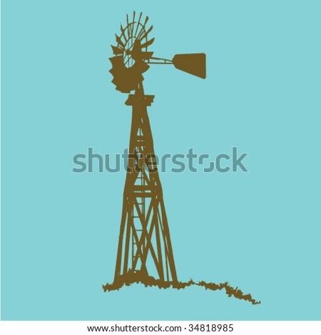 Windmill - stock vector