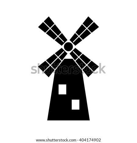 Windmill black line icon, Vector illustration. EPS 10. mill icon,mill isolate,mill isolate icon,mill icon vector,windmill icon,windmill icon vector,windmill isolate,windmill isolate icon vector - stock vector