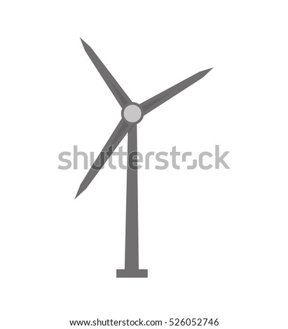 windmill energy alternative icon vector illustration design