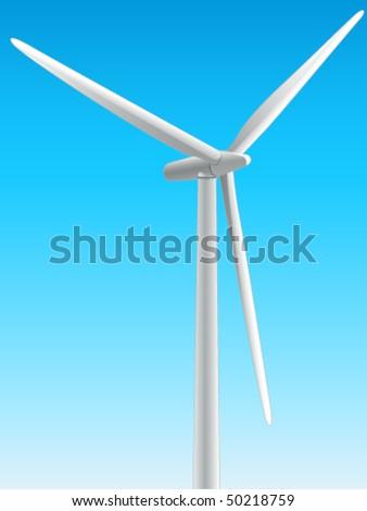 windmill, wind energy - vector illustration - stock vector