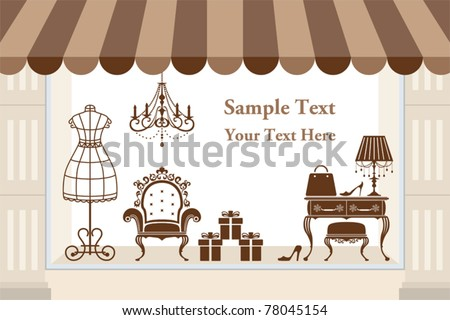 Window display. Illustration vector - stock vector