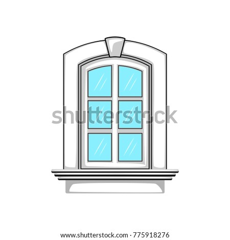 Window icon. Vector Illustration