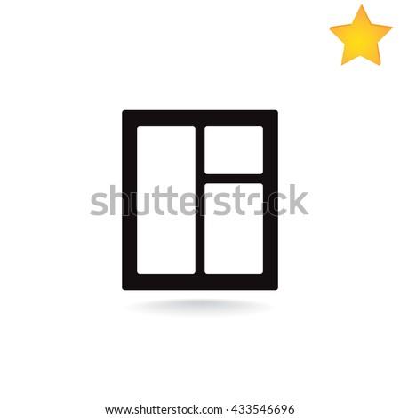 window icon. window icon Vector. window icon Art. window icon eps. window icon Image. window icon logo. window icon Sign. window icon Flat. window icon design. window icon app. window icon UI. - stock vector