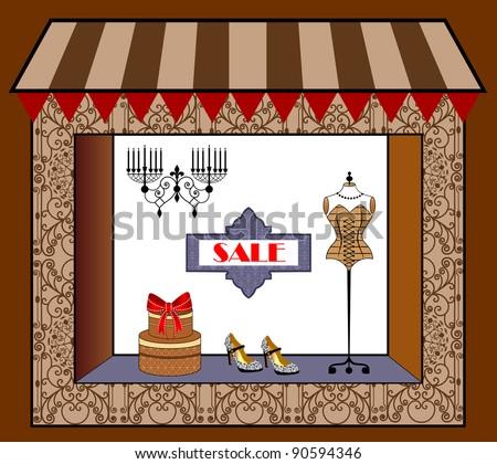 window shopping - stock vector