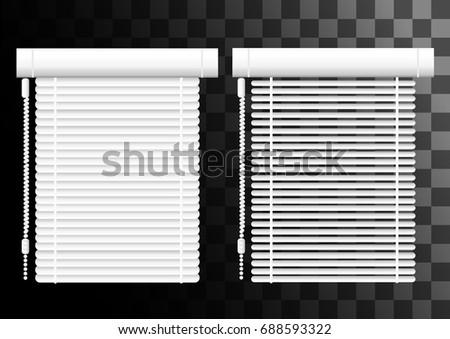 office window blinds. Window Shutters. Office Interior Blinds. Decor. Horizontal Blind. Vector Illustration Blinds F