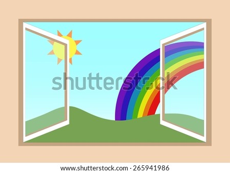 Window Vector - stock vector